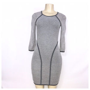 Rachel Roy Gray Casual Midi Dress X-Small